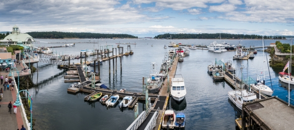 Panorama of Nanaimo Harbor, Vancouver Island, British Columbia, Canada