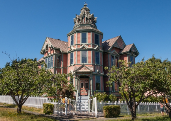 Restored private home #1 on our driving tour of Port Townsend, Washington, USA