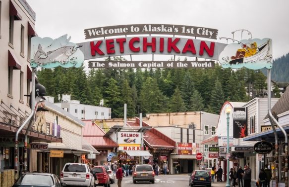 "Sailing north through the ""Inside Passage"" from Vancouver, the island city of Ketchikan, Alaska, USA, is the first city that ships encounter and stop at – hence it_s nickname as"