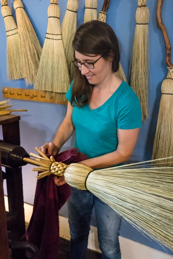 Sisters Mary and Sarah (pictured) Schwieger learned to make brooms from their family while growing up in the Kootenay Region of British Columbia and strive to combine beauty, function an