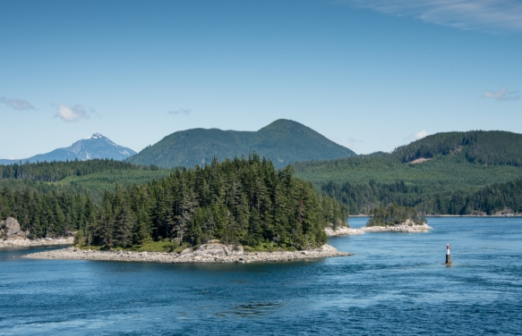 Some of the islands are quite small, Fjordlands, British Columbia, Canada