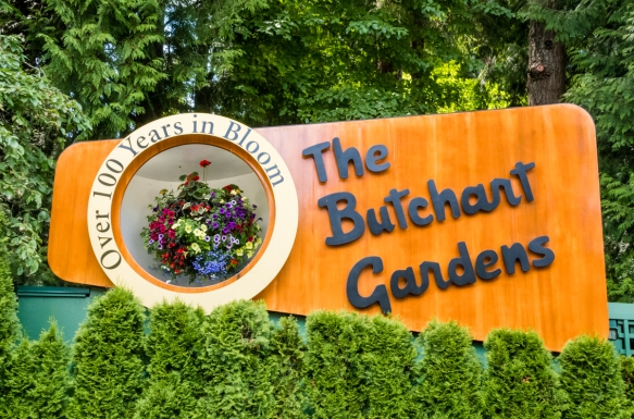 The Butchart Gardens, covering more than 22 hectares (55 acres), began from an idea Jennie Butchart had to beautify the worked-out limestone quarry which had supplied her husband Robert