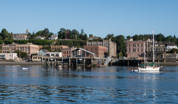 The downtown section of Port Townsend, Washington, USA, contains numerous brick buildings dating back to the 1880s