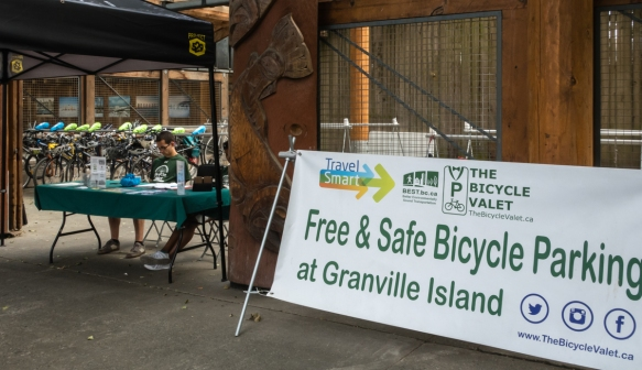 "The Green movement is very strong at both the national government, local community and individual level in British Columbia-Canada -- this free bicycle ""valet"" parking service is typical"