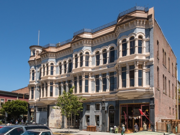 The Hastings Building dates back to1889 and is located a stone_s throw from the current tender pier, Port Townsend, Washington, USA