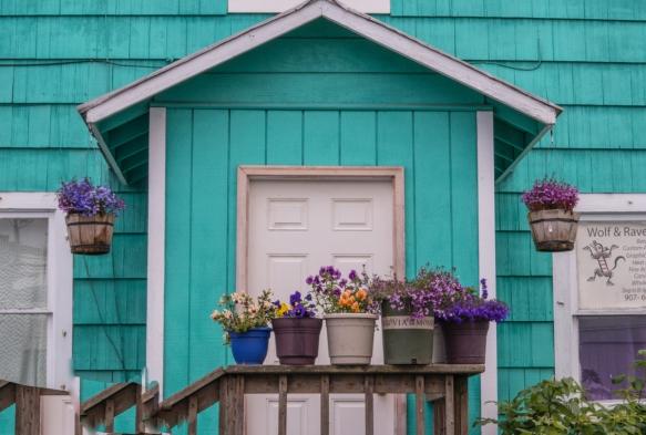 """The home of """"Wolf and Raven Silks"""", Wrangell, Alaska, USA"""