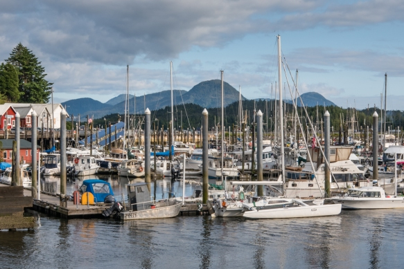 There are only two forms of transportation to reach Ketchikan, Alaska, USA – boats and seaplanes – hence the city has several marinas full of pleasure boats, along with downtown pier