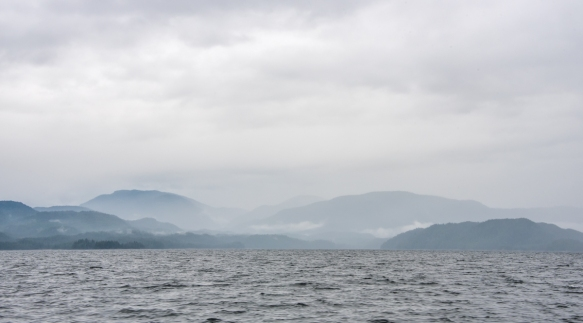 "This image from our late afternoon Zodiac cruise around New Eddystone, Misty Fjords, Ketchikan, Alaska, USA, shows that the fjord lives up to its name – it was lightly raining, ""mist"