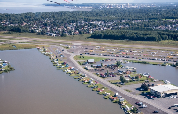 A glimpse of the largest floatplane operations center in the United States, Anchorage, Alaska USA