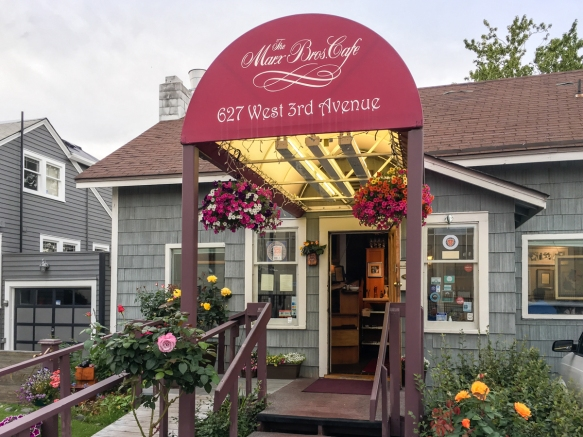 Exterior of the Marx Brothers Café -- the home on Third Avenue in downtown Anchorage, Alaska, dates to 1916 and was one of three identical houses built for the local management of the