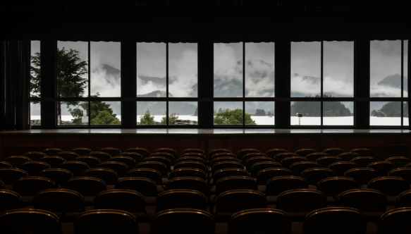 Harrigan Centennial Hall (which does double duty as the city_s meeting center and the reception area for crusie ship passengers at the tender pier) has an auditorium which overlooks th