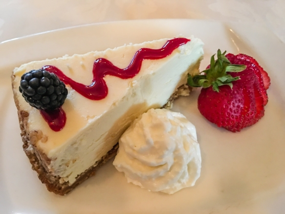 Marx Bro's Cheesecake- Our own special recipe, rich and creamy, Marx Brothers Café, Anchorage, Alaska, USA
