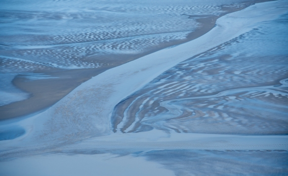 Part of the Knik River delta, Anchorage, Alaska USA