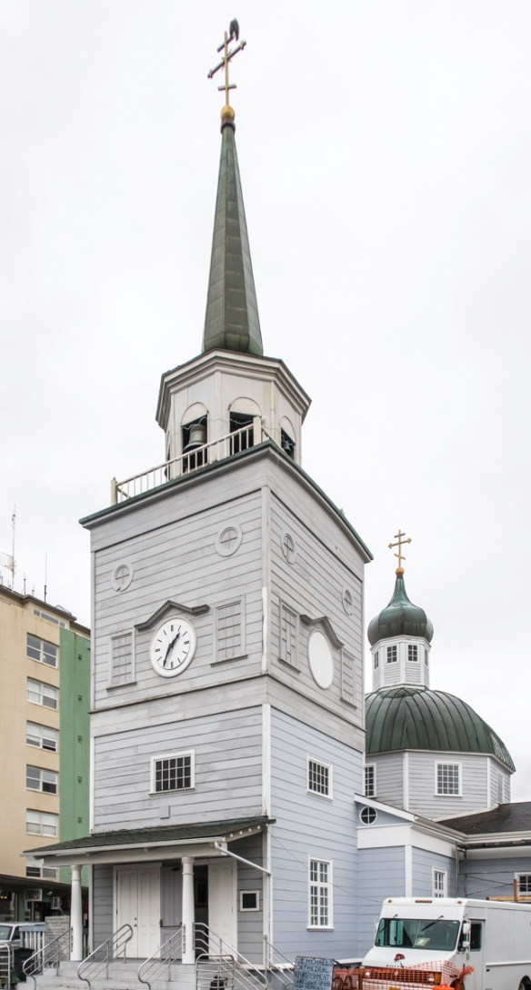 Representing Russian influence in North America, the onion-domed St. Michael_s Orthodox Cathedral contains Russian Orthodox art and religious icons, and the walls are decorated with sa