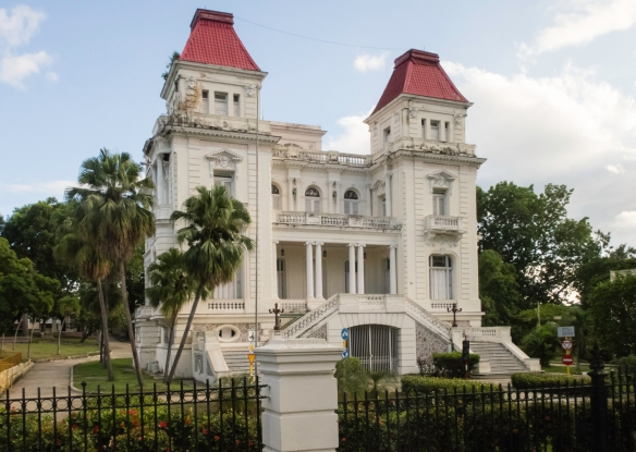 A mansion in the Vista Alegre neighborhood that was the home to the wealthy prior to the revolution, including the Bacardi Family, Santiago de Cuba, Cuba