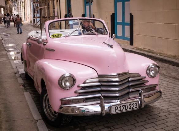 A pink beauty in Old Havana, Havana, Cuba