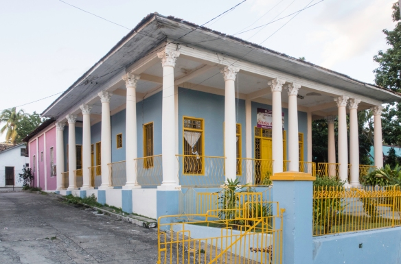 "A typical home in the Vista Alegre neighborhood that was a ""regular"" home, rather than a large mansion (as above), Santiago de Cuba, Cuba"