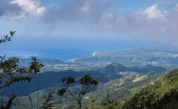 A view of the Caribbean Sea from near a summit on our jeep ride up the Gran Parque Nacional Sierra Maestra mountains, Santiago de Cuba, Cuba