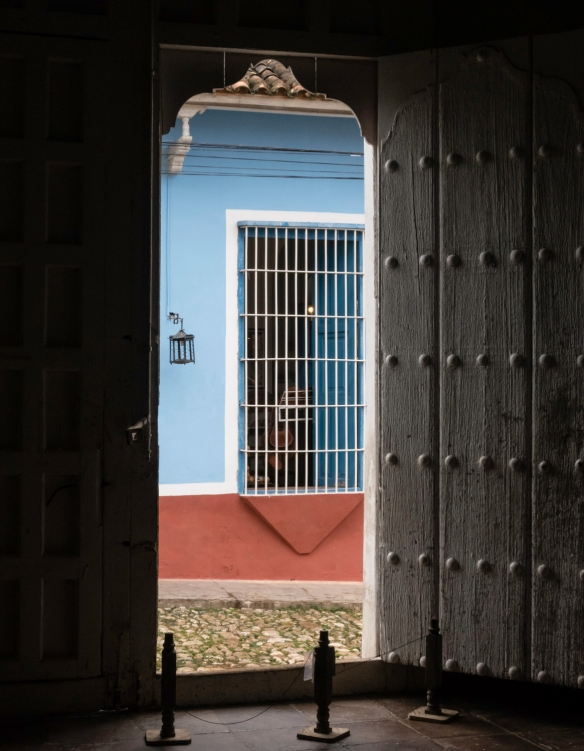 A view of the street from inside the Historical Museum, Trinidad, Cuba