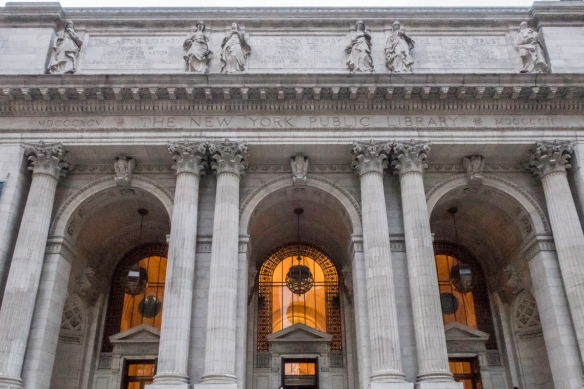 And what better place to seek wisdom and knowledge in New York, New York, USA, than the main branch of the New York Public Library that opened in 1911