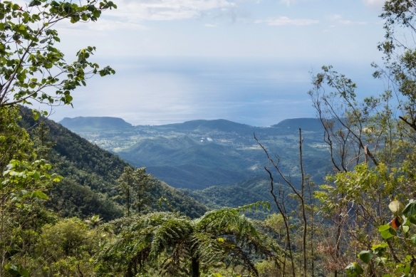 Another view of the Caribbean Sea from the summit on our jeep ride along the Gran Parque Nacional Sierra Maestra mountains, Santiago de Cuba, Cuba