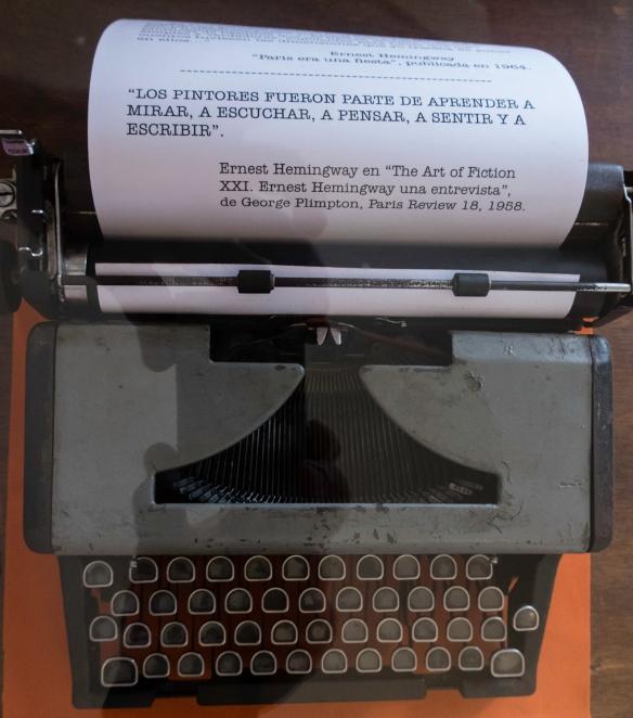 Hemingway_s typewriter in his room during 1939 in the Hotel Ambos Mundos in Havana, Cuba