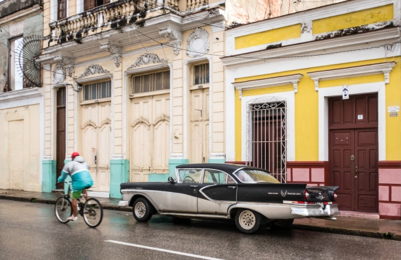 One of many classic (American) cars from the 1950s that we saw in Cienfuegos, Cuba – a Crown Victoria Pan Am from around 1957; note that due to the high price of gasoline, most people
