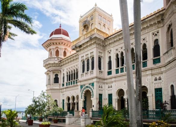 Palacio de Valle at Punta Gorda, built by a wealthy sugar merchant and completed in 1917, was a casino during the Batista days; Cienfuegos, Cuba