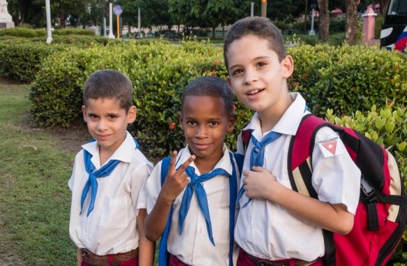 School children after school walking home, Santiago de Cuba, Cuba