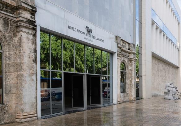 The entrance to the Museo Nacional de Bellas Artes featuring Arte Cubano (Cuban Art), Havana, Cuba