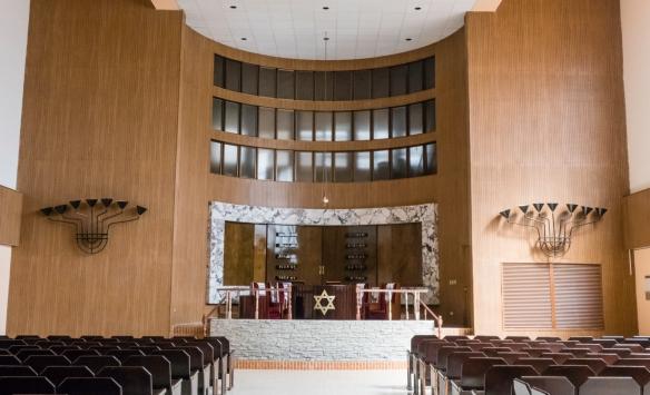 The interior of Temple Beth-Shalom Gran Sinagoga de la Communidad Hebrea de Cuba, Havana, Cuba