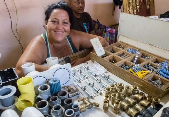 The proud proprietor of a small hardware store in downtown Santiago de Cuba, Cuba