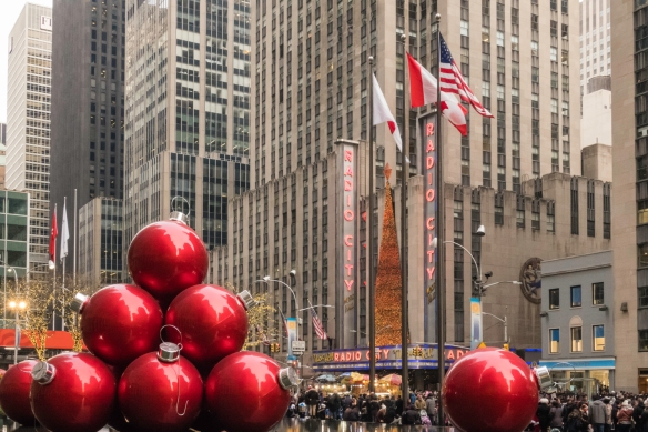 The Radio City Christmas Spectacular show featuring the high-kicking Rockettes is a New York City musical tradition that takes place in the iconic Radio City Music Hall, New York, New Yo