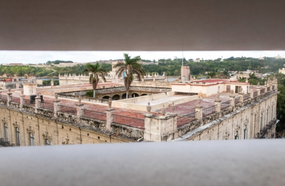 The view of old Havana and the port-river from Hemingway_s room during 1939 in the Hotel Ambos Mundos in Havana, Cuba