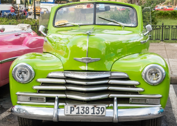 We saw this very nicely restored Chevrolet in Old Havana by the river, Havana, Cuba
