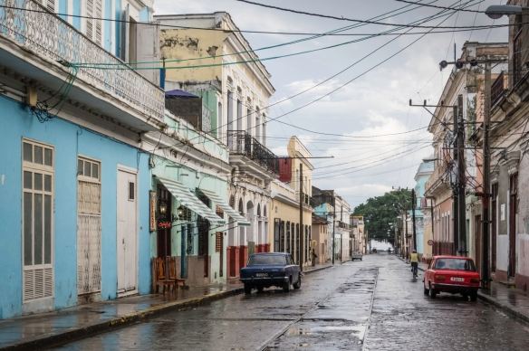 While not unseen, there aren_t a lot of cars of recent vintage on the street – most are restored American classic cars from 1950 to 1959 (the year of the Cuban Revolution under Che G