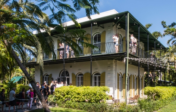 The Ernest Hemingway House and Museum, the former home of the Nobel Prize winner, is now a U.S. National Historic Landmark, Key West, Florida, USA