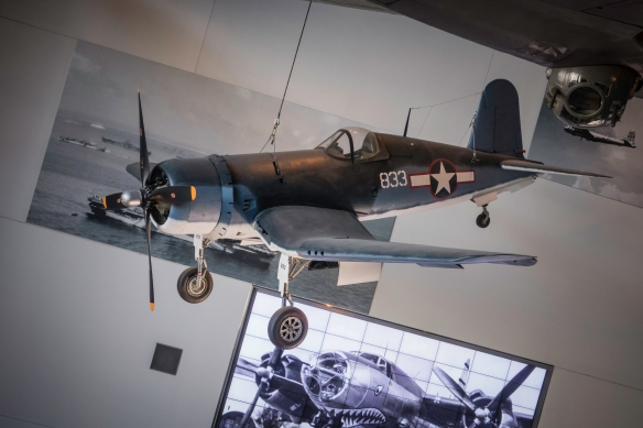 The F4U Corsair first entered combat in 1943 and gave Allied naval aviators a winning edge against their opponents.; renowned for its speed, ruggedness and fire power, the Corsair excell