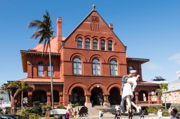 The Key West Museum of Art and History at the Custom House, Key West, Florida, USA