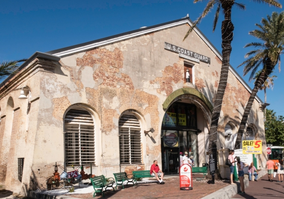 The Naval Depot and Storehouse, known as building one at the U. S. Coast guard headquarters in Key West, Florida, was completed in 1861 and during the Civil War served as the headquarter