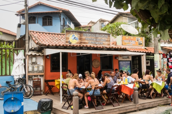 A typical al fresco restaurant with local specialties, Búzios, Brazil