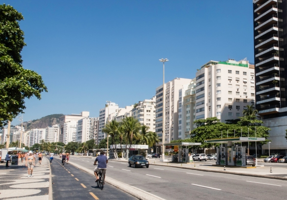 Across the main street from the promenade, Copacabana is lined with high-rise hotels and condominiums