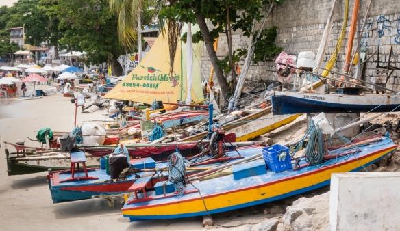 Boats on Praia de Ponta Negra (Ponta Negra Beach), Natal, Brazil