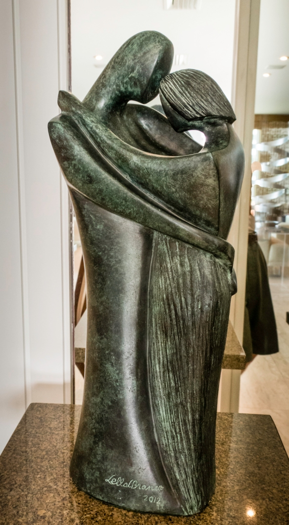 """Embrace, After Picasso"" sculpture by Brazilian-born, London-based artist Lella Castello Branco, São Conrado, Brazil"