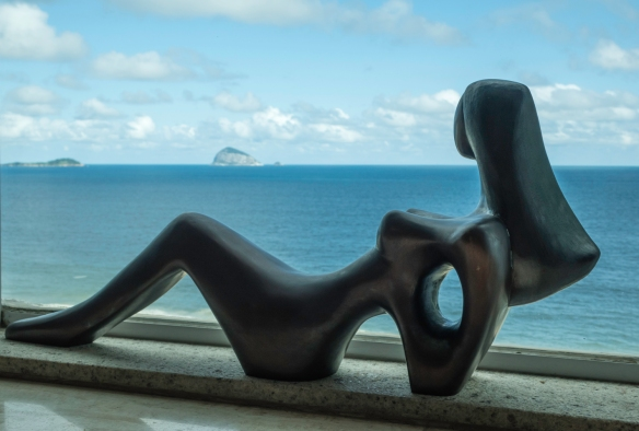 """Tranquility"" sculpture by Brazilian-born, London-based artist Lella Castello Branco, São Conrado, Brazil"