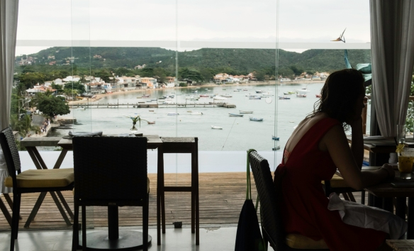 Mistico Sunset Lounge & Restaurant, Búzios, Brazil, is located up on a hill in the central district of the town, providing an excellent view of Búzios Bay