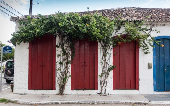 One of the old colonial buildings in Barrio Passagem, Cabo Frio, Brazil