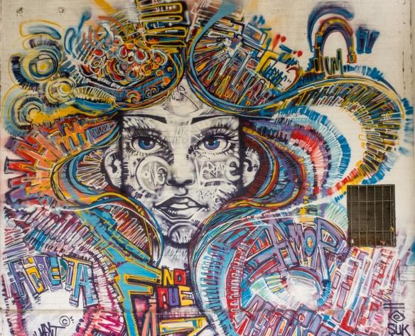 Rio de Janeiro, Brazil, street art- a mural on a terminal at Pier Mauâ, #3