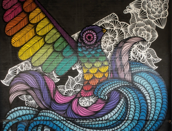 Rio de Janeiro, Brazil, street art- a mural on a terminal at Pier Mauâ, #5