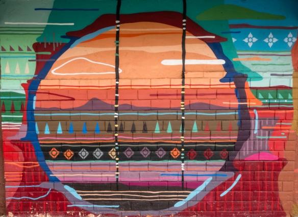 Rio de Janeiro, Brazil, street art- a mural on a terminal at Pier Mauâ, #7